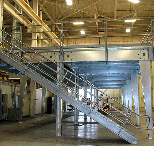 Platform mezzanine western pacific storage solutions for Steel mezzanine design
