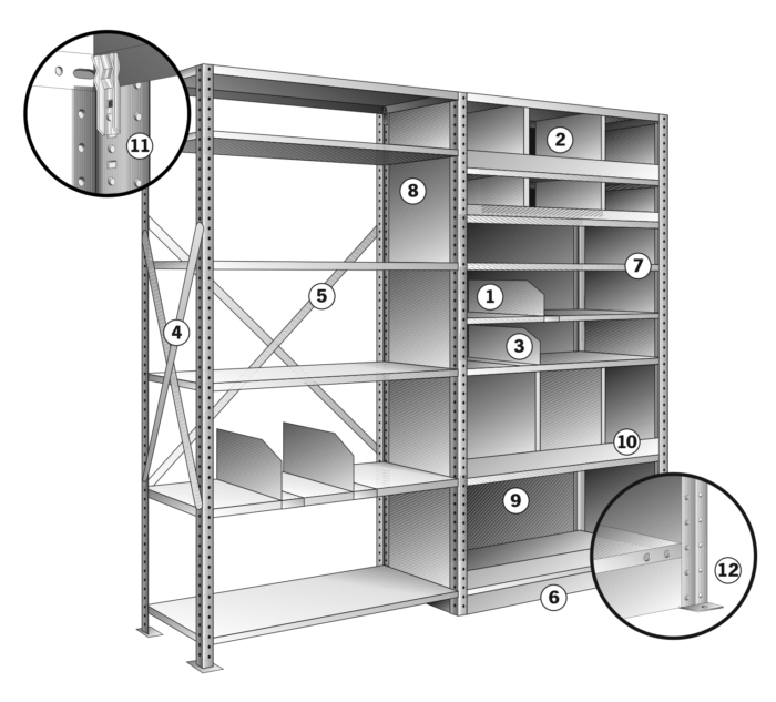 Pacific Clip Shelving