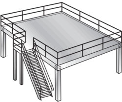 Freestanding work platform