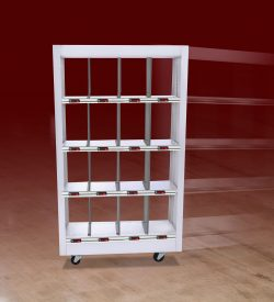 Accu-Wall shelving system